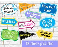 Baby Shower photo signs for boys. Baby shower signs in Spanish. - Baby Shower photo signs for boys. Juegos Baby Shower Niño, Dibujos Baby Shower, Fotos Baby Shower, Moldes Para Baby Shower, Imprimibles Baby Shower, Baby Shower Photo Booth, Baby Shower Photos, Baby Shower Table, Baby Shower Signs