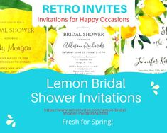 Lemon bridal shower invitations so deliciously gorgeous you can almost smell the citrus! Custom and personalized high quality invites with must-see stunning images. Zazzle Invitations, Bridal Shower Invitations, Invites, Today Images, Party Needs, Program Design, Wedding Season, Summer Wedding, Lemon