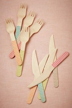 Gorgeous Chevron Flatware.  Perfect for any party.  Super attractive, in-style and luxurious looking.  bhldn.com, more at bonconseil.us