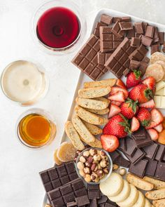 This chocolate board is the ultimate party dessert. Learn how to taste chocolate, pair it with wine, and build the chocolate board with fruits and nuts. Raspberry Cookies, Almond Cookies, Party Desserts, Dessert Recipes, Roasted Nuts, Cupcakes, Cherry Tart, Cream And Sugar, Chocolate