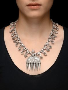 Buy Silver Tribal Necklace Jewelry Necklaces/Pendants Online at Jaypore.com