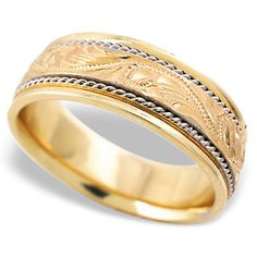 Very Cool Hand Engraved Wedding Band And Made In America