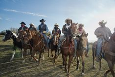 The Boot Hill possie,  Jason Griffin(left) and others, on their way to rounded up the stray horses and cattle on the ranch.