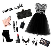"""Prom night"" by irmaa11 ❤ liked on Polyvore featuring Alaïa, Alexander McQueen, Oscar de la Renta, Gucci, NARS Cosmetics, Charlotte Russe, Boris Bidjan Saberi and Maybelline"