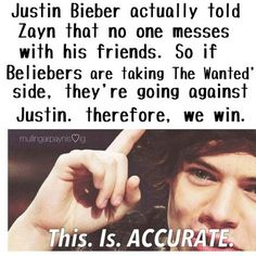 we even got justin beiber on our side that shows that we conquer all
