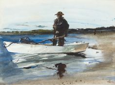 Andrew Newell Wyeth-The Clammer Andrew Wyeth Paintings, Andrew Wyeth Art, Artist Biography, Norman Rockwell, Global Art, Magazine Art, Art Auction, Art Market, Artist At Work