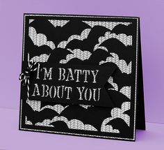 Bat Background Card