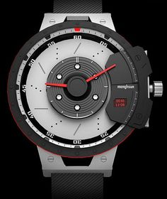 Shift Hybrid is a watch based on automotive engineering. Design by Menghsun Wu