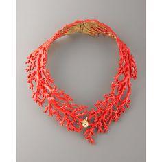 Aurelie Bidermann Enamel Coral Choker Necklace, found on #polyvore. #women