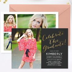 Graduation Announcement Template Photoshop Senior  Wedding Design