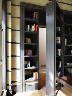 Ever had the desire to have a secret room at home? Each secret room must also have an entrance or a hidden door to go to the secret room. Usually, a hidden door leads to a different secret room. Home Renovation, Home Remodeling, Bathroom Remodel Cost, Shower Remodel, Bathroom Renovations, Kitchen Remodel, Cool Bookshelves, Bookcases, Bookshelf Diy