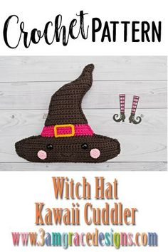 Our Witch Hat crochet pattern & tutorial makes an adorable pillow for you or your favorite Halloween lover! #crochet #amigurumi Crochet Patterns For Beginners, Easy Crochet Patterns, Crochet Patterns Amigurumi, Crochet Designs, Crochet Ball, Hat Crochet, Free Crochet, Halloween Fun Facts, Cute Halloween Decorations