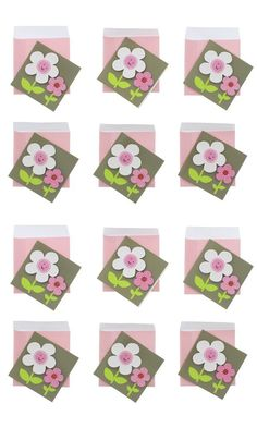 Paper Craft Mini Enclosure Cards - 2 Pack - 12 Cards (Flower) >>> Want to know more, click on the image.