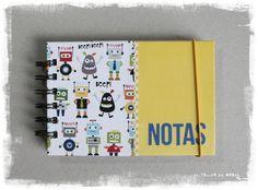 De robots (portada) Notebook, Cover Pages, The Notebook, Exercise Book, Scrapbooking