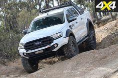 Custom ford ranger downhill driving
