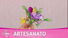 Vida com Arte | Flor amor perfeito em resina plástica por Junko Miazato ...