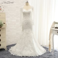 Robe de mariage New Design Long Wedding Dress 2017 O-Neck Cap Sleeve Court Train Beaded Lace Bridal Gowns #Affiliate