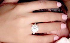 Breathtaking Celebrity Engagement Rings Radiant Engagement Rings, Best Engagement Rings, Celebrity Wedding Rings, Engagement Celebration, Heart Shaped Diamond, Cushion Cut Diamonds, Types Of Rings, Diamond Bands, Wedding Bands