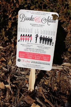 Silhouette Wedding Program