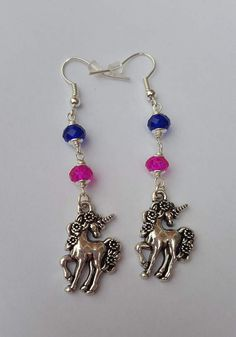 Check out this item in my Etsy shop https://www.etsy.com/uk/listing/509078300/unicorn-earrings-dangling-earrings-pink