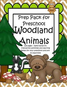 This is a comprehensive set of printables with a Woodland Forest Animals theme - make hands-on, interactive activities and learning games for your preschool and pre-K classroom. Engaging graphics, most activities are developmentally appropriate for ages 3 - 5, and SPED. 109 pages.