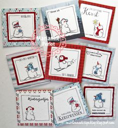 In de 'Spotlight': Hetty's Winter Watercolor Christmas Cards, Diy Christmas Cards, Holiday Cards, Christmas Ideas, Snowman Cards, Atc Cards, Small Cards, Marianne Design, Card Making Inspiration