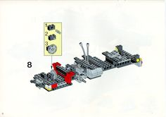 LEGO 5590 Whirl and Wheel Super Truck instructions displayed page by page to help you build this amazing LEGO Model Team set Lego Technic Truck, Lego Basic, Lego Sets, Lego Models, Lego Instructions, Planer, Projects To Try, Trucks, Super