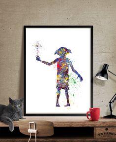 Pépinière Art Print, ratière Harry Potter Art Print, Harry Potter, Dobby aquarelle Art mural Poster Art Kids déco - Art, Art mural, décoration, Art Print, affiche, Illustration, dessin, peinture, aquarelle, oeuvre, FineArtCenter ------------------------------------------------------------------------------------------------ Tailles disponibles sont indiqués dans la sélectionner une taille liste déroulante au-dessus du bouton Ajouter au panier…