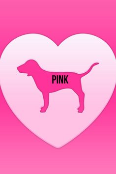 Iphone 7 Stuck On Wallpaper Pink By Victoria S Secret Dog Logo Fashion Passion