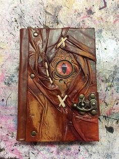 Leatherbound Grimoire Book of Shadows Spellbook by damianblack Handmade Journals, Handmade Books, Journal Covers, Book Journal, Altered Books, Altered Art, Journal En Cuir, Grimoire Book, Leather Bound Journal