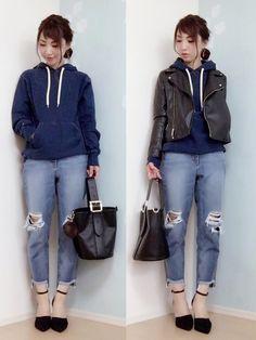 MIKU│GU Riders jacket Looks - WEAR