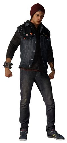 inFamous Second Son Delsin Rowe Render Cutout by mizukimarie