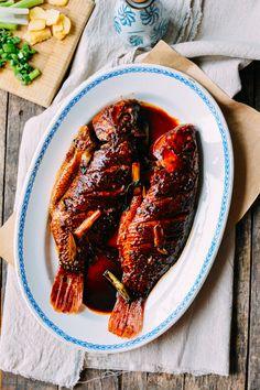Chinese braised fish