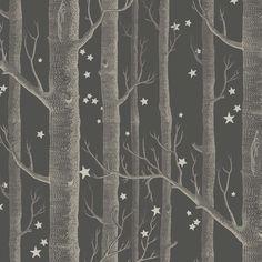 "Papier peint ""Woods & Stars"" via http://www.aufildescouleurs.com/whimsical/5523-woods-stars-103-11053.html"