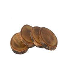 Porta copos de madeira natural - LMPC230