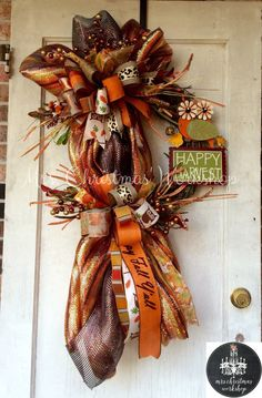 fall wreath deco mesh wreath Owl wreath grapevine wreath