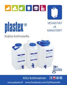 Plastexin mainos kesä 14 vesiastiat ja kanisterit.
