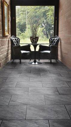 Welsh Slate-Slate Noire Stripping - Amtico Flooring - Bell of Northampton