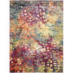 Safavieh Monaco Pink/ Multi Rug (9' x 12') - Overstock™ Shopping - Great Deals on Safavieh 7x9 - 10x14 Rugs