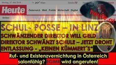 Schuldirektor Christoph Ludwig - Schmierblatt:  HEUTE  - Ruf- und Existe... Ludwig, Broadway Shows, Videos, Bus Shelters, Linz, Economics, Politics, School