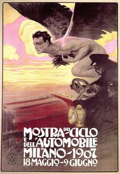 Leopoldo Metlicovitz, Mostra del Ciclo e dell'Automobile - Milano 1907
