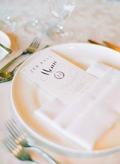 #place-settings, #menu Photography: Kelli Lyn Photography (http - kellilynphotography.com Floral Design: Sweet Pea Designs - sweetpeadesignsvail.com/company.htm Read More: http://www.stylemepretty.com/2013/03/13/colorado-wedding-from-kelli-lyn-photography/