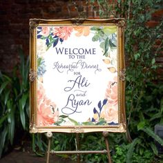 "Large Wedding Welcome Signs, Wedding Sign, Wedding, Weddings, Wedding Day, Wedding Ideas, Wedding Reception, 11"" x 14"" Sign"