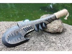 ... NIFO OTI Hook Axe Club - Polynesian Artifacts - Pacific Art WAR Weapon