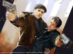 """The man from UNCLE by Brilcrist on DeviantArt """"Red Peril + Cowboy"""" from """"The Man From U.N.C.L.E"""""""