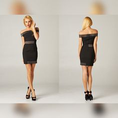 STUDIOL9   Off Shoulder Mesh Dress - My Dear, if at first you don't suceedd, throw on another accessory & try, try again! http://www.studiol9.com/#!product-page/c6np/700af749-5630-6ca8-b7e6-06b865a8a009