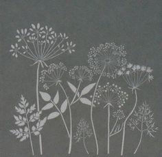"18"" x 18"", Americana Decor Stencils, Wildflowers, Reusable Stencil"