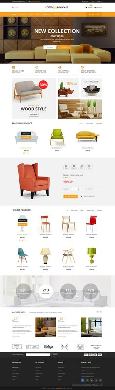 Loren is Multipurpose PSD Template with awesome design ideal for any type of business #website of Creative Corporate, News, Creative Blog, Organizatior, Community, #eCommerce.