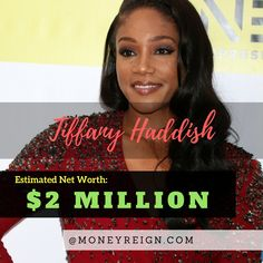 Tiffany Haddish is a growing celebrity, actress, and comedian, with a net worth of around $2 million. While her net worth might seem low at the moment, this is sure to rise, as her career is just starting to light up.