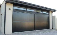 portones corredizo automaticos - Buscar con Google Main Gate Design, Door Gate Design, House Gate Design, Exterior Brick Veneer, Exterior Doors, Metal Garage Doors, House Paint Color Combination, Modern Entrance, Entrance Gates